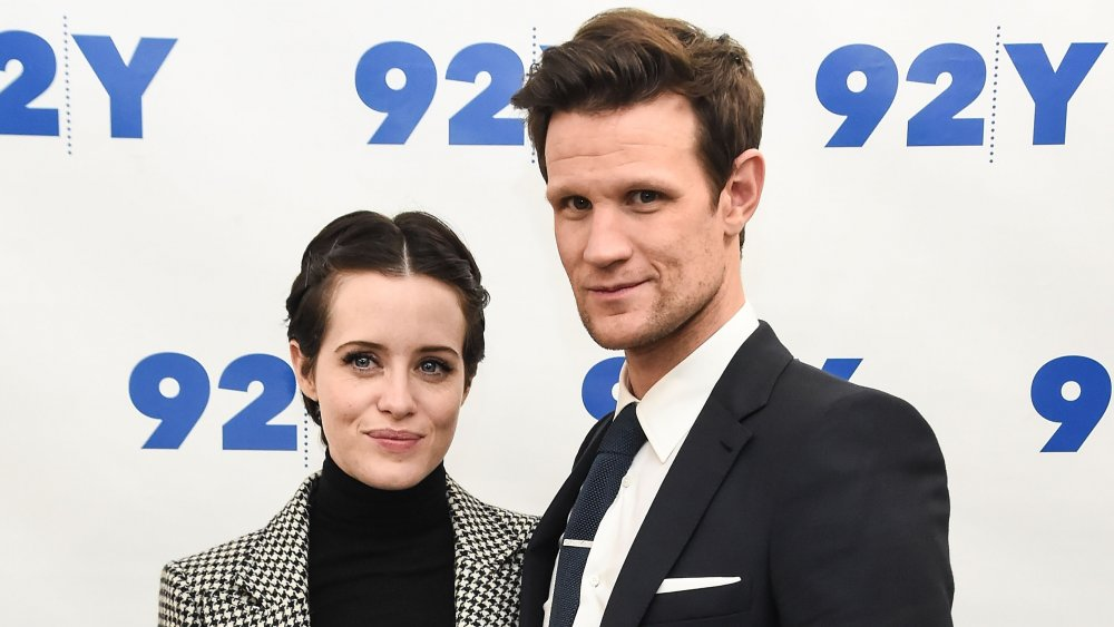 Claire Foy and Matt Smith at a screening of The Crown at the 92nd Street Y