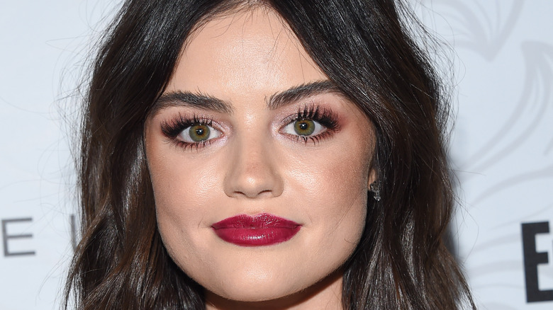 Lucy Hale posing