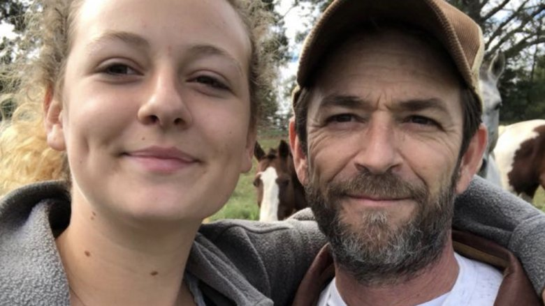 Luke Perry and daughter Sophie Perry