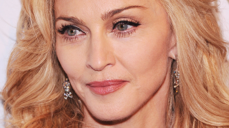 Madonna posing on the red carpet