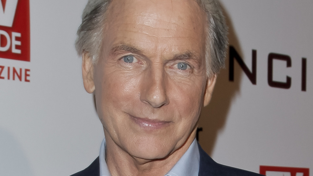 Mark Harmon posing at an event