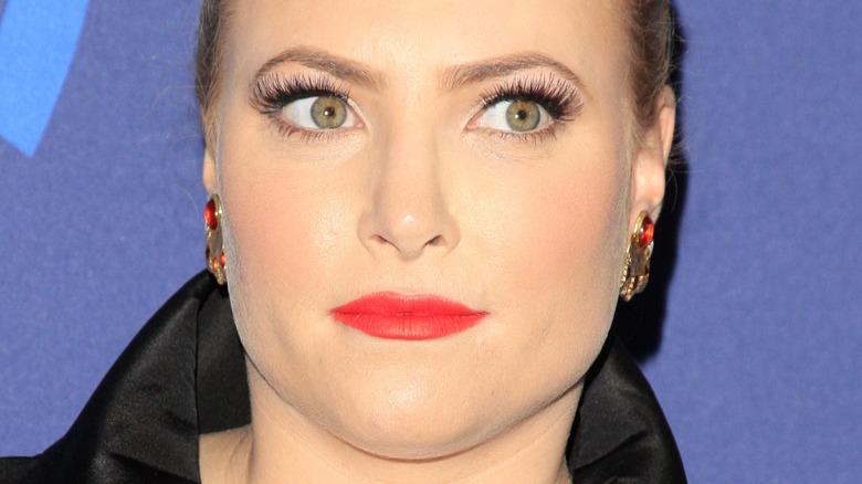 Meghan McCain red lipstick