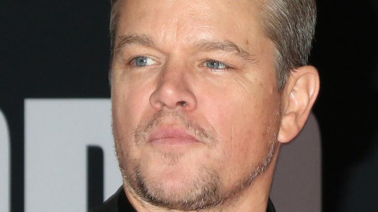 Matt Damon serious