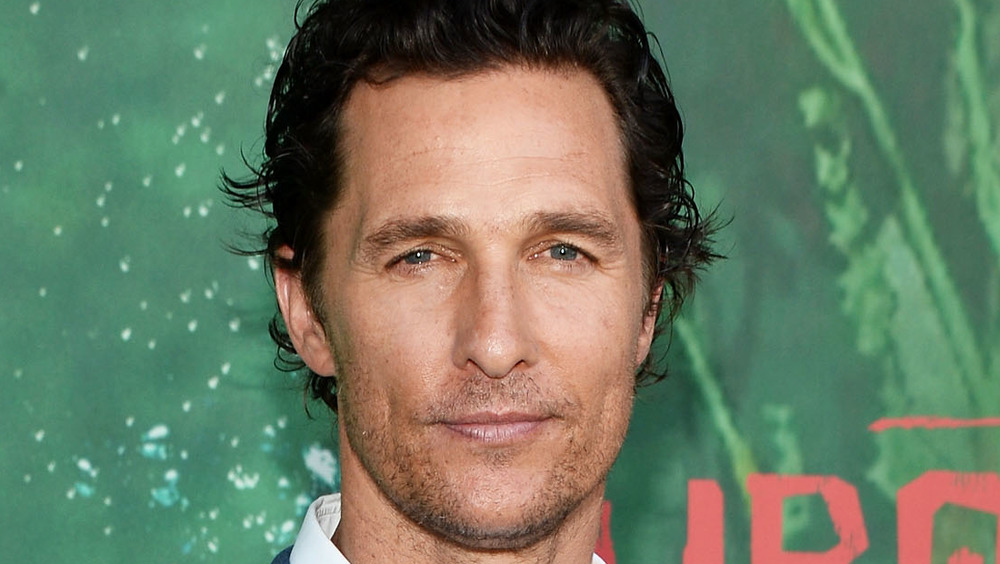 Matthew McConaughey posing on the red carpet