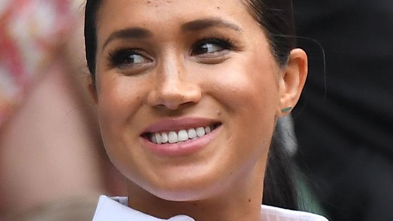A smiling Meghan Markle