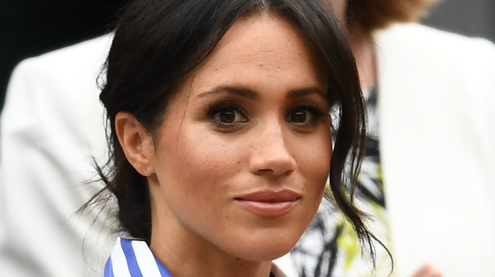 Meghan Markle looking into the crowd at an event