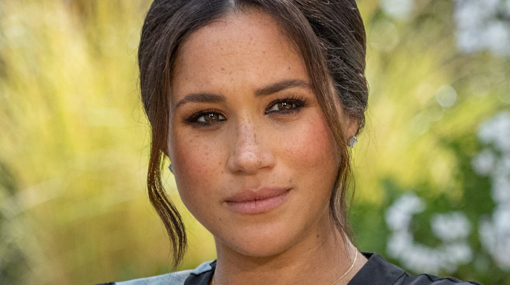 Meghan Markle squinting during interview