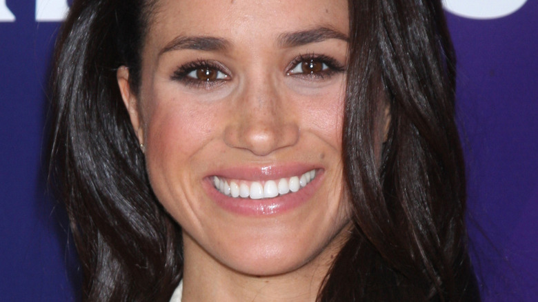 Meghan Markle with wide smile