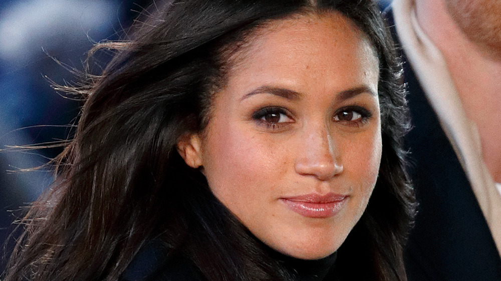 Meghan Markle in black outfit
