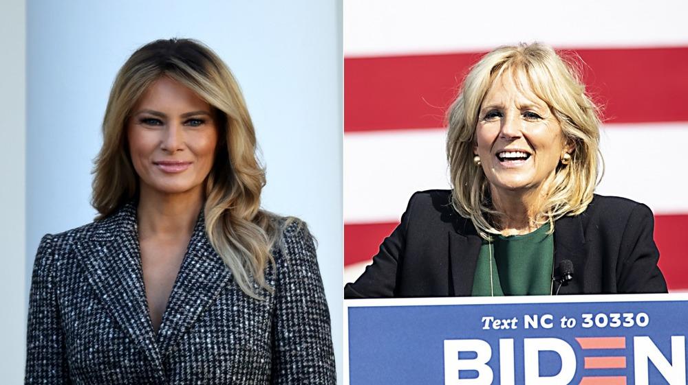 Melania Trump and Jill Biden side-by-side