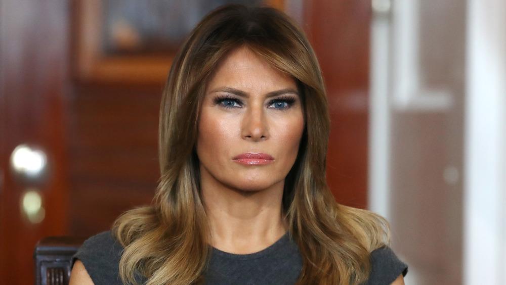 Melania Trump looking unhappy