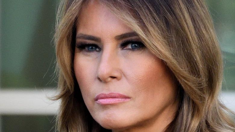 Melania Trump looks into a camera
