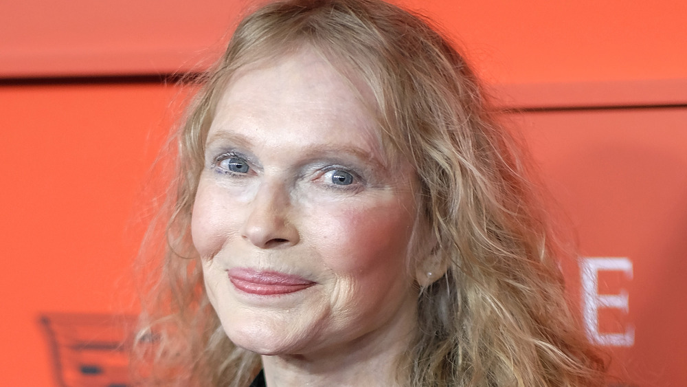 Mia Farrow at the TIME 100 red carpet 2019