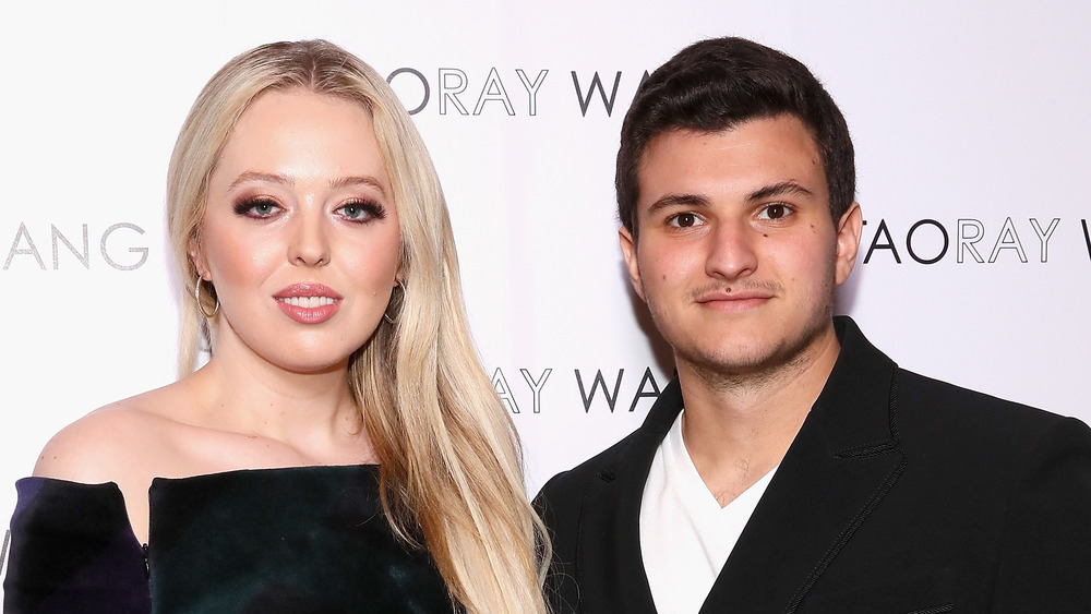 Tiffany Trump and Michael Boulos at an event
