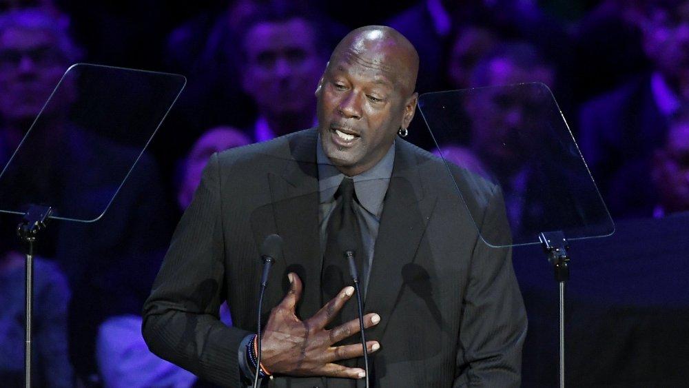 Michael Jordan at Kobe Bryant's memorial