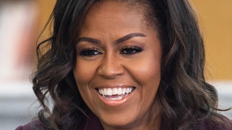 Michelle Obama smiles
