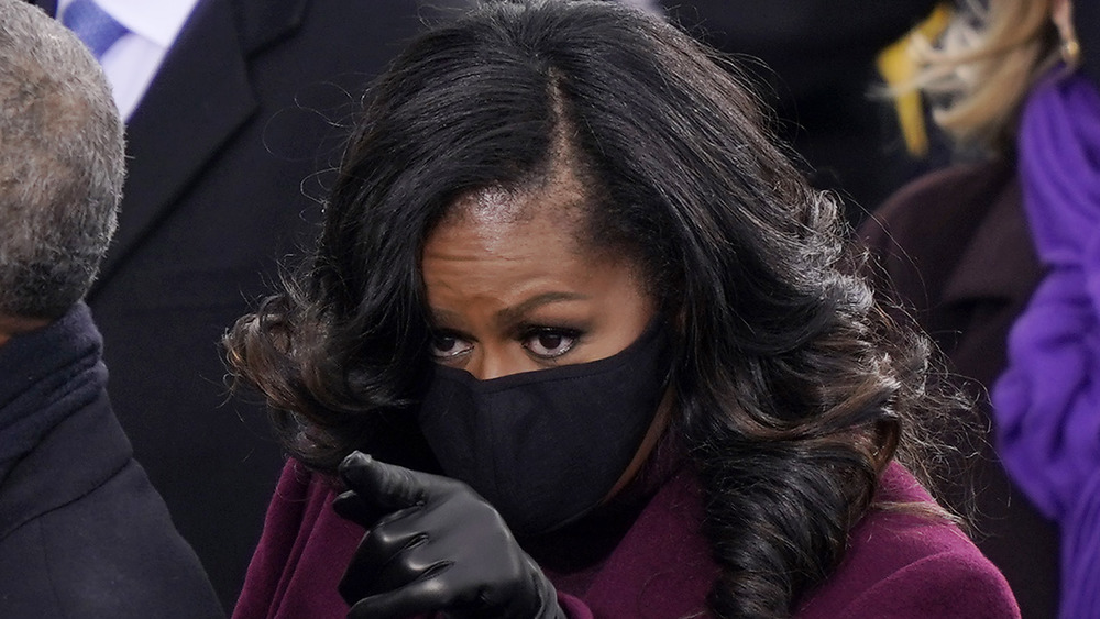 Michelle Obama pointing