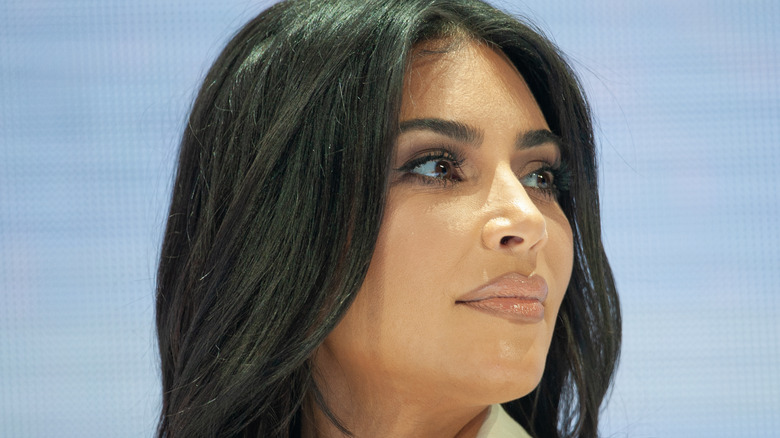 Kim Kardashian attending an event