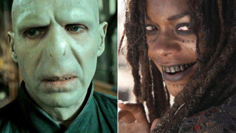 Ralph Fiennes as Voldemort, Naomie Harris as Calypso