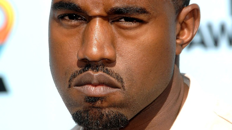 Kanye West facial hair