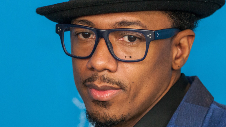 Nick Cannon wearing glasses