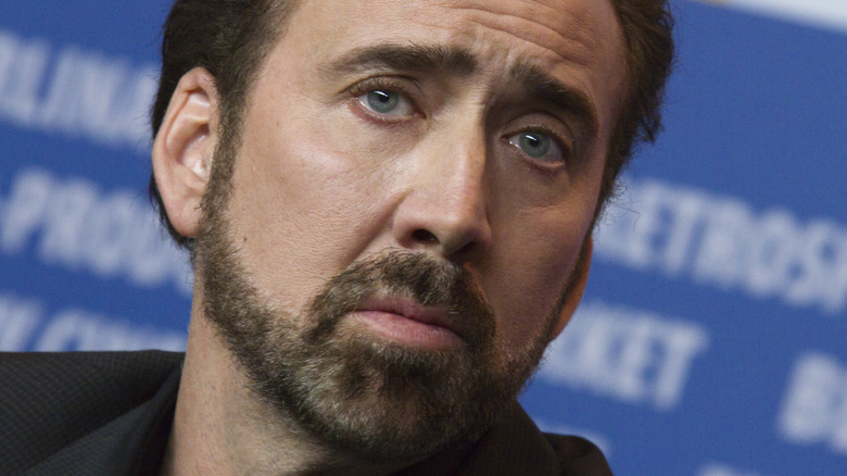 Nicolas Cage at a press event