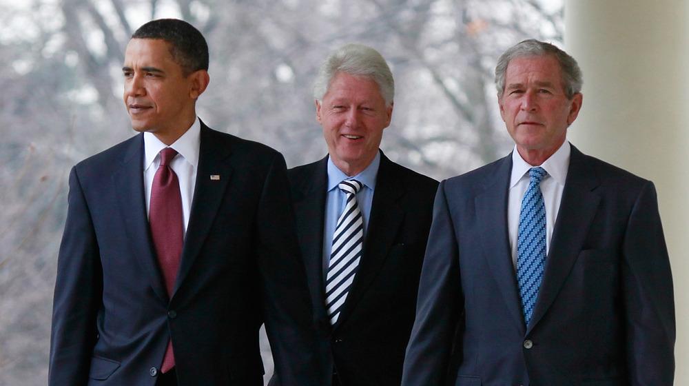 Barack Obama, Bill Clinton, George Bush