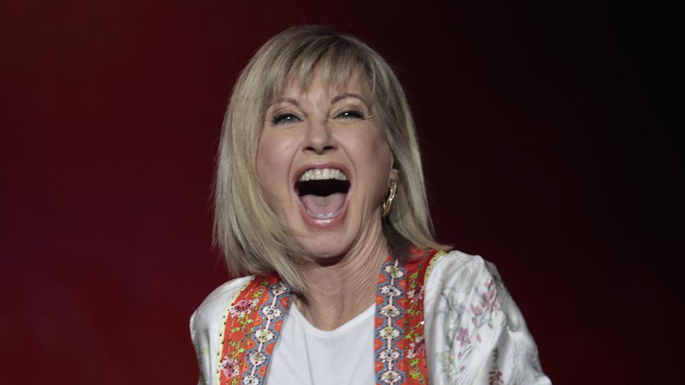 Olivia Newton-John performing on stage