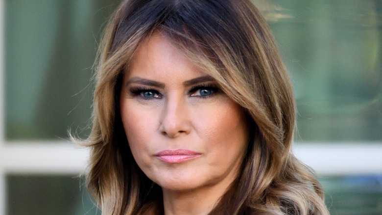 Melania Trump at the White House Rose Garden