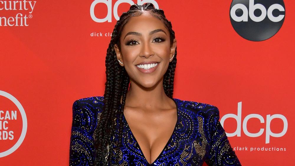 Tayshia Adams smiling