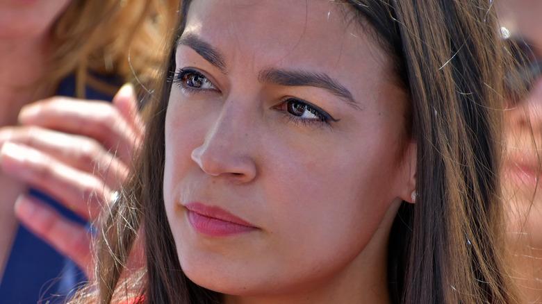 Alexandria Ocasio Cortez smiling
