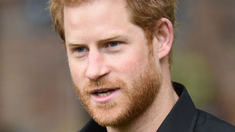 Prince Harry mouth open