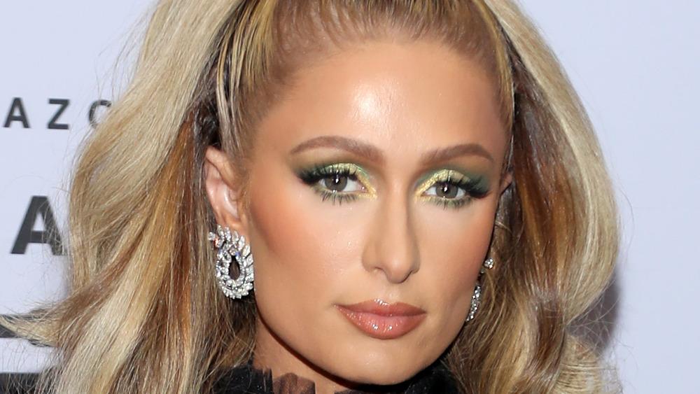 Paris Hilton staring