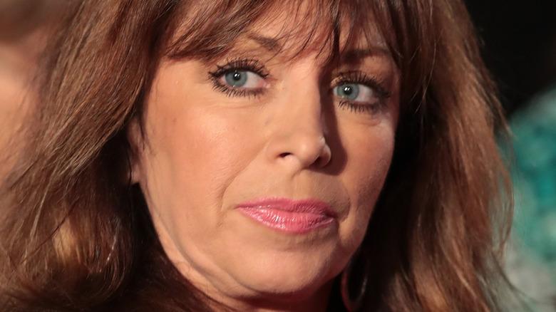 Paula Jones smirking