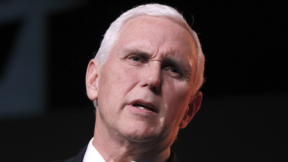 Mike Pence at the podium