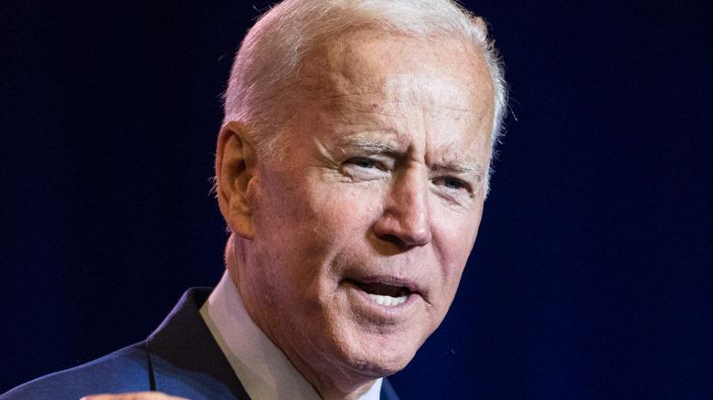 Washington DC, United States, November 2020, United States new president Joe Biden in public meeting