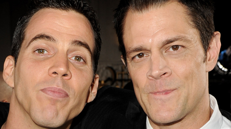 Steve O and Johnny Knoxville, posing together