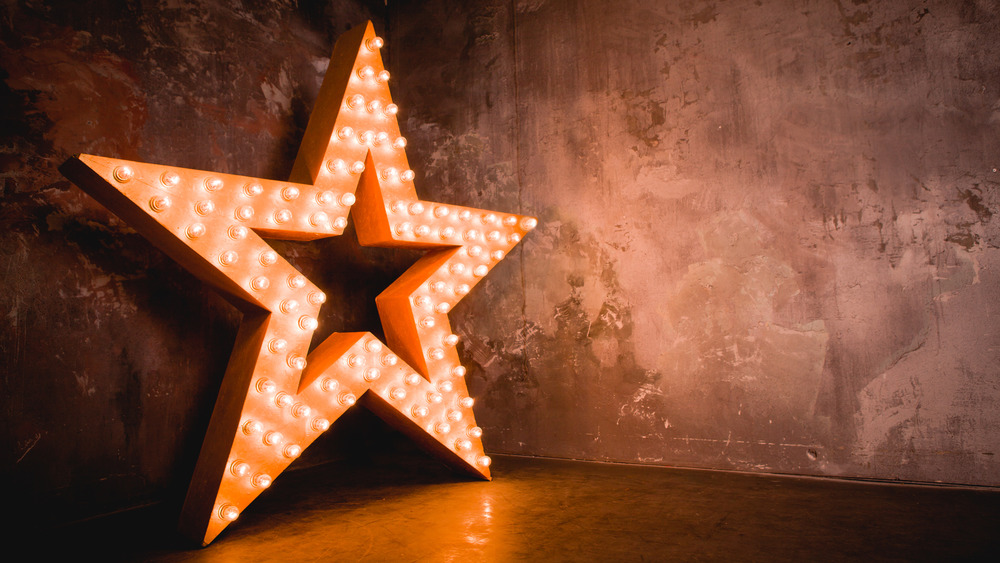 Lit up star for Hollywood