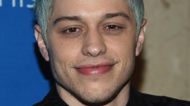 Pete Davidson blue hair