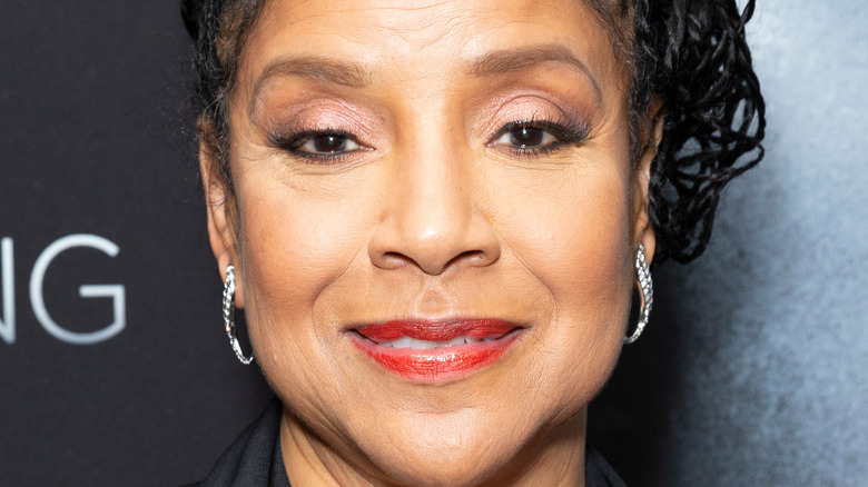 Phylicia Rashad on a red carpet