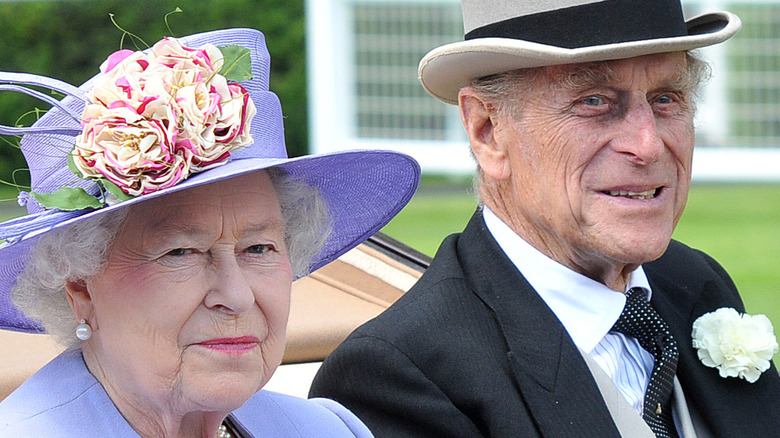 Queen Elizabeth and Prince Philip smiling