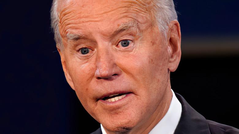 Joe Biden mouth open