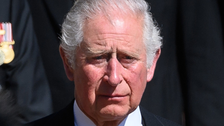 Prince Charles is emotional during Prince Philip's funeral