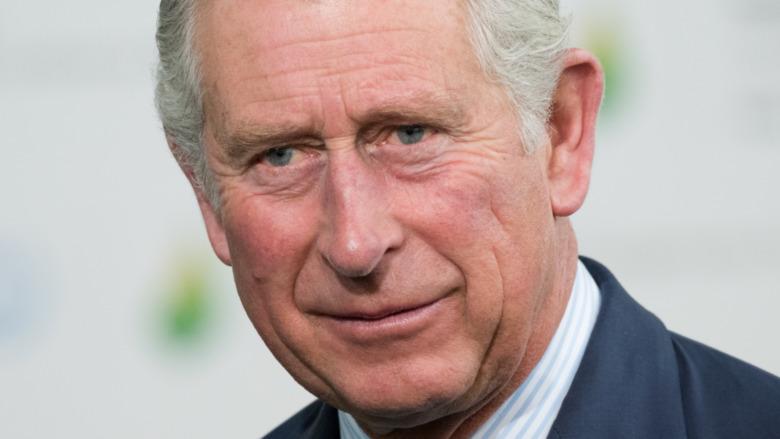 Prince Charles staring