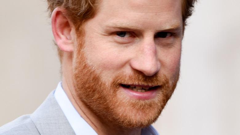 Prince Harry staring at camera