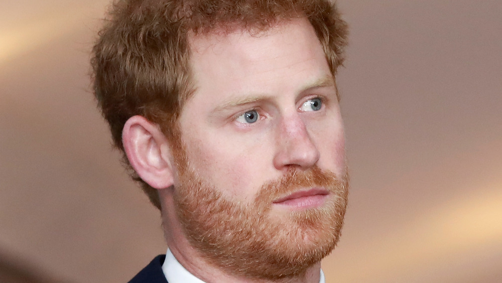 Prince Harrylooking off into the distance