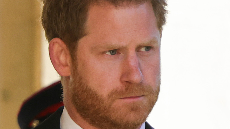 Prince Harry attending Prince Philip funeral