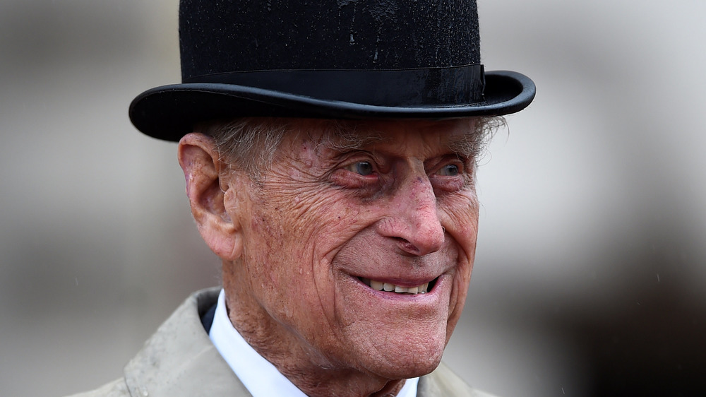Prince Philip grinning