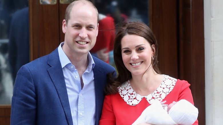 Prince William and Kate Middleton with their newborn son, Louis Arthur Charles