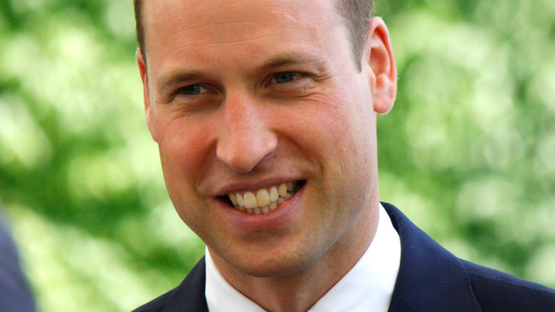 Prince William smiling and looking to side